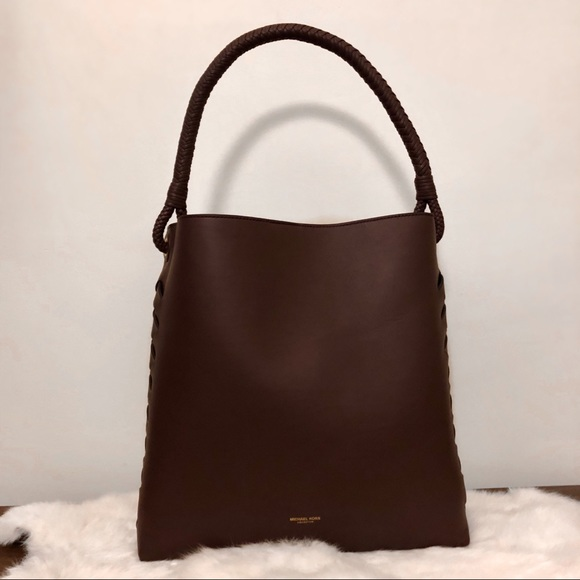 439df1390bae5 Michael Kors Collection Loren Leather Shoulder Bag.  M 5a5be8ca6bf5a649c0525832
